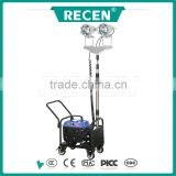 2*150w MH/HPS emergency lighting portable gasoline generator 3m telescopic rod floodlight