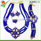JQ003-2 African Crystal Beads Jewelry Sets for Nigerian Wedding royal blue