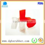 alcohol resistant red silicone valve for plastic bottle
