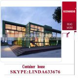 China suppliers prefabricated container coffee shop houses / pre- assembled units modular housing