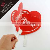 Advertising Plastic Hand Fan Sticks With Logo Printing                                                                         Quality Choice