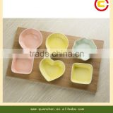 high quality ceramic cup set with bamboo tray