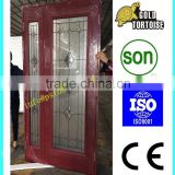 High quality Cheap Interior mother and son steel door glass panel for sale