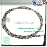 8.5mm diamond wire saw for cutting steel,china wire saw manufacturer sale to canada and india