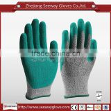 SEEWAY hhpe Blue Latex Gloves Powder Free Examination Gloves
