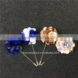Hot Sale Mix-Color Fabric Flower Lapel Pins,Lovely Design Brooches For Men                                                                         Quality Choice