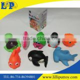 Cartoon plastic animal spout toy baby bath toy organizer