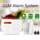 High wireless fire alarm system work with smoke detector & burglar home alarm system with ip camera
