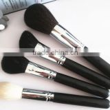 4pcs gold hair cosmetic applicator tool kit/black makeup kit free samples/private label make up brush set