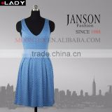 sexy jacquard china air express clothes classic style blue dress