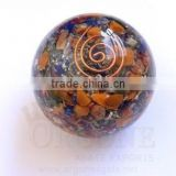 Mix Chakra Stone Orgonite Ball | Orgone-Orgone Energy-Chakra Sphere | Agate Orgonite Products