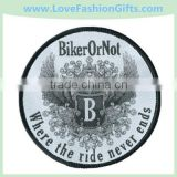 Embroidered Badge,Round Embroidered Woven Biker Patch