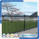 Wholesale & low price black powder painted steel fence /Aluminium Fence for Garden /welding steel Fence