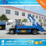 Dongfeng 3000L swing arm garbage truck, skip loader garbage truck, refuse collection vehicle bin                                                                         Quality Choice