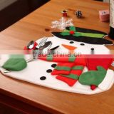 Christmas Snowmen Place Mats and Red Napkins Novelty Decor Silverware Holder Cover Placemat,christmas table decoration