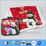 Christmas wholesale custom printed pot holder kitchen towels                                                                         Quality Choice
