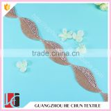 HC4778-1 Hechun Leaf Shape Fashion Beaded Fabric Trim for Long Evening Dress