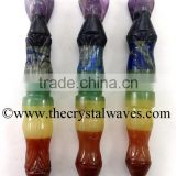 7 Chakra Bonded Carved Angel Healing Sticks
