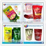Laminated Material Stand Up Zipper Pouch Candy bar Packaging/Heat Sell Plastic Bag For Candy Packaging
