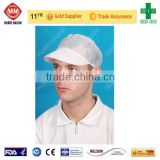 disposable non woven peaked cap, soft and comfortable blue peaked cap of high quality and low price