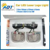 multi-function no drill led logo car door light ghost shadow light with 3m tape for bmw for audi for vw for toyota