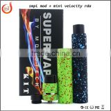 Metal SMPL Mechanical MOD MINI Velocity RDA KIT Wide Bore Drip Tips PEEK Insulators for 18650 battery tube vs Manhattan V2 Fuhat
