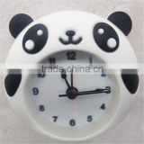 Hot selling cute panda silicone digital alarm clock,promotional gifts silicone alarm clock