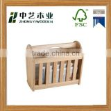 2015 Wholesale hot sell modern office wooden magazine rack natural handmade office file rack