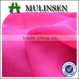 75D Woven polyester dyed wholesale crinkle chiffon fabric