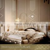 JB15-01 chinese antique oak solid wood bedroom furniture set villa furniture from JL&C Furniture