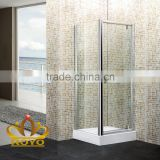 aluminum frame enclosed pivot door shower cubicles