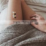 Wholesale dazzling metallic temporary tattoos gold body art tattoos waterproof fake jewelry tattoos manufacturer