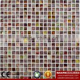 IMARK Design Gold Star Glass Mosaic Tile Mix Quartz Glass Mosaic Tile Kitchen Tile Bathroom Tile Wall Art Mosaic Tile Wall Decor