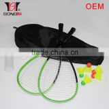 good quality speed badminton set aluminium frame BSCI and OEM factory