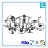 cooking pot stainless steel cookware set 12 pcs cookware set