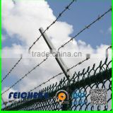 green color double strand electric galvanized razor barbed wire fencing/hot dip galvanized barb wire