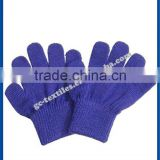 wholesale factory plain men and women custom winter warm acrylic gloves