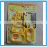 3 pcs Mini Bear Japan Style Cookie Cutters Cartoon Decorating Tools For Cooky Sandwich Cutters