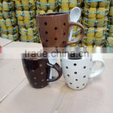 OXGIFT China suppliers wholesale Manufacture Factory Amazon colorful matt ceramic mug with lid bamboo coffee mug