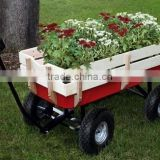 garden flower kids wooden metal barrow wagon cart