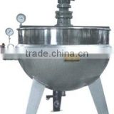 steam heating jacketed brew kettle