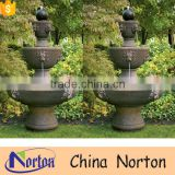 Garden decoration antique stone lion head water fountain NTMF-W236A