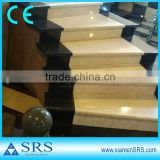 Polished marble laminate stair treads