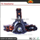 OEM XQ50 T6 LED 1200Lm High Power Zoom Headlamp 18650 Rechargeable Led Head Torch For Hunting