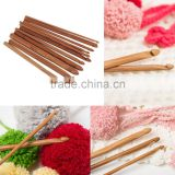 12 Sizes /set Handle Crochet Hook Bamboo Knitting Knit Needle Weave Yarn Set Crafts Yarn Tools hot search