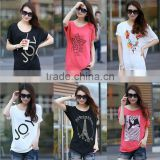 15 new large size women's t-shirt Korean version of the bat sleeve summer night market stall cheaper Alibaba fair stall
