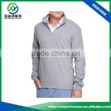 High quality custom mens grey color 100% cotton plain hoodie windbreaker pullover jacket