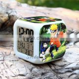 (Promotion Gift) Japanese anime Naruto Alarm clock LED clock,7 color changing LED digital clock