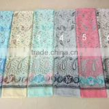 Wholesale Fashion Checked Yarn Dyed Loop Viscose Scarf