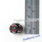 P513 colourful glass bead wholesale handmade murano lampwork glass european beads fit for charm bracelets